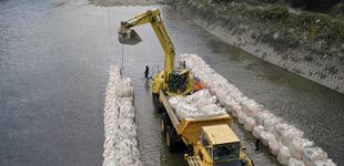 国分市場地区河道掘削