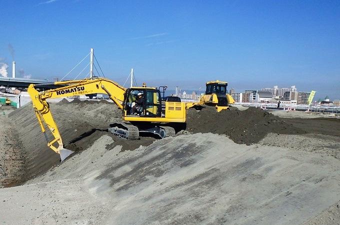 三宝下水処理場地区高規格堤防工事