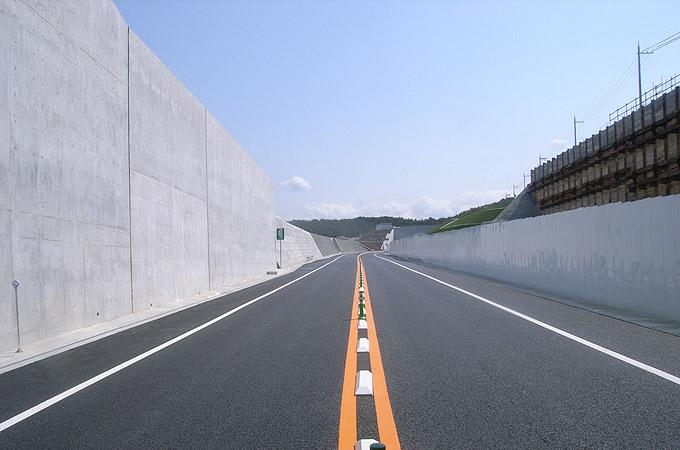 第二阪和国道望海坂地区擁壁設置工事